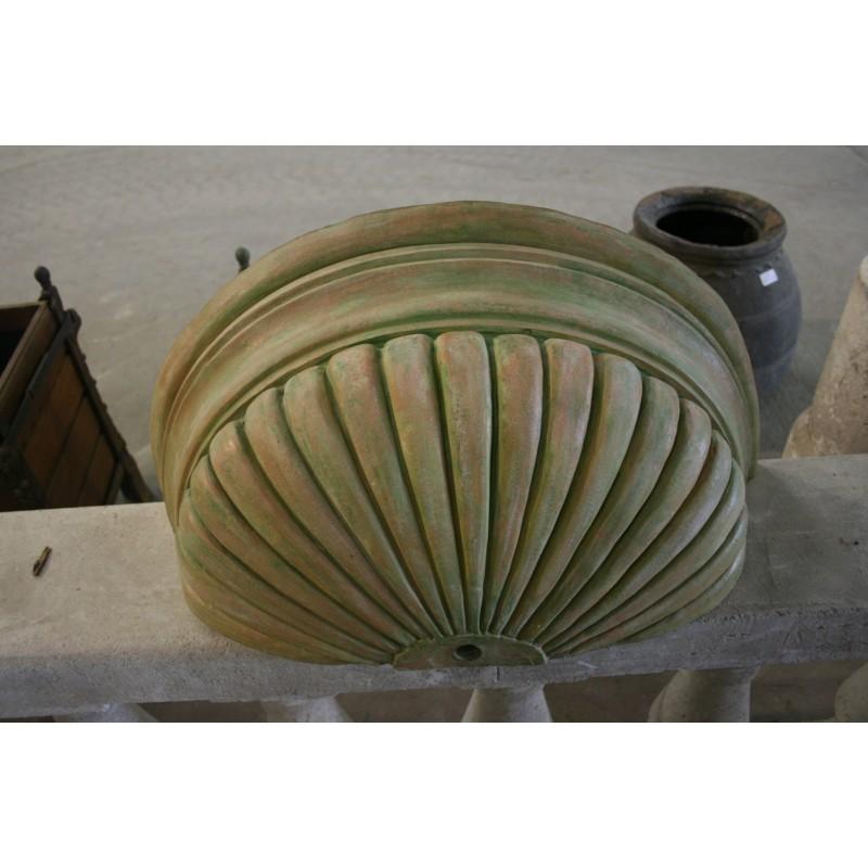 Vasque en terre cuite - Labrouche Antiquaire de matériaux