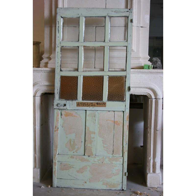 Porte petits carreaux labrouche antiquaire de mat riaux for Porte interieure vitree petit carreaux