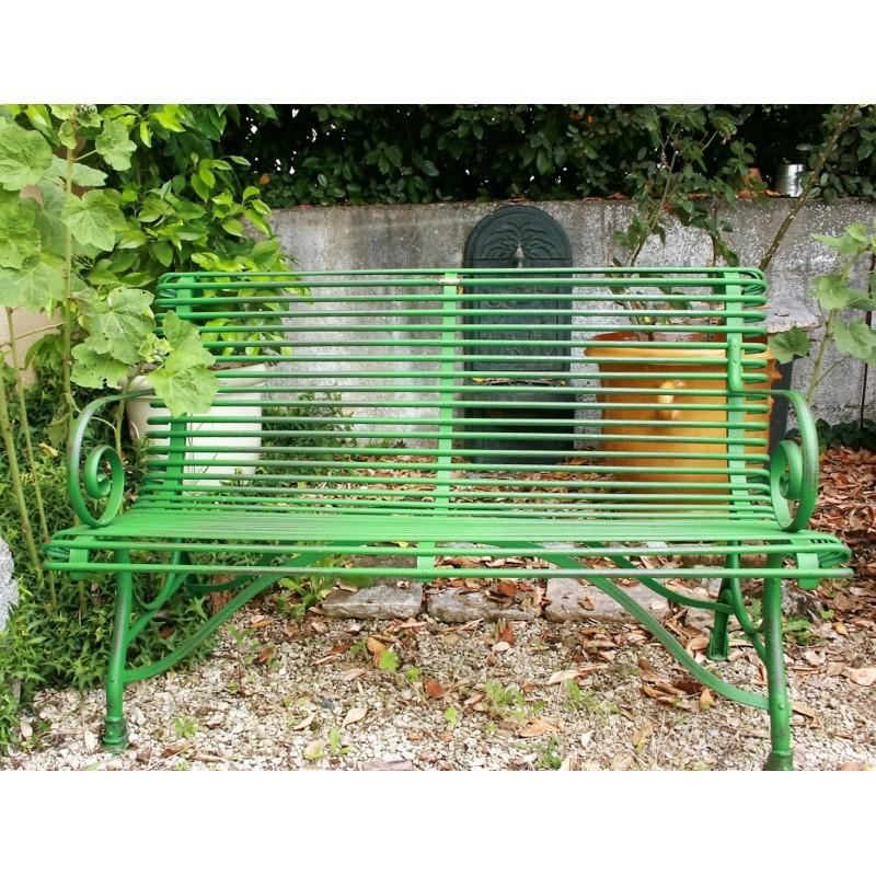 Banc en fer forg labrouche antiquaire de mat riaux - Banc de jardin fer forge ...