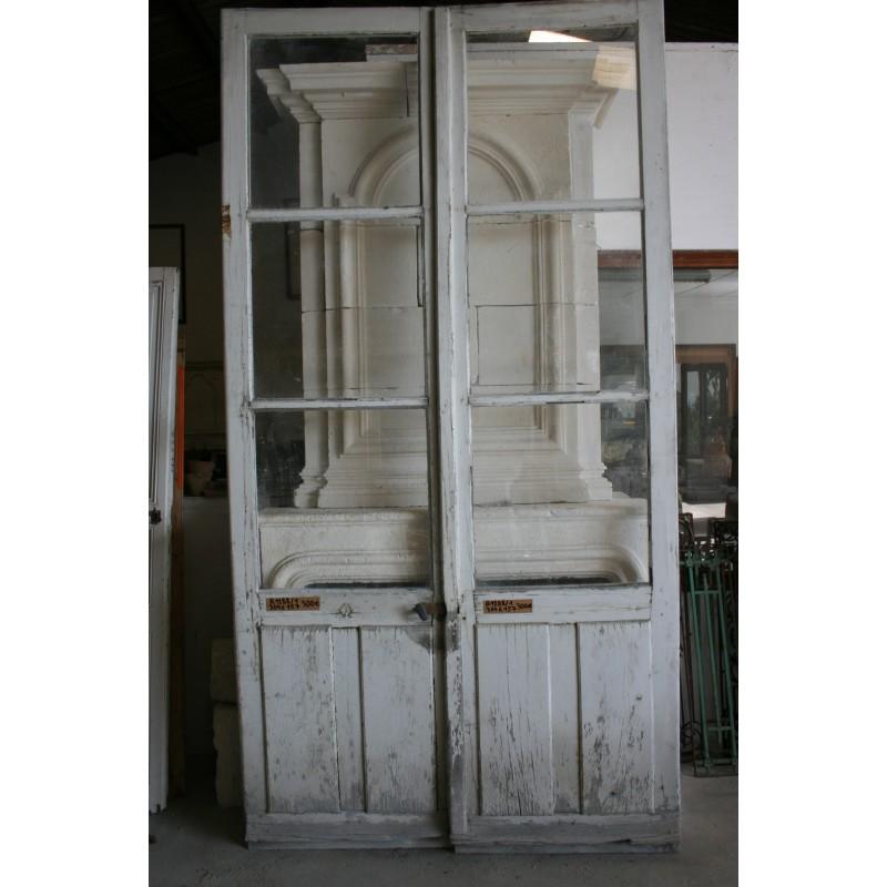 Paire De Portes Vitrées Labrouche Antiquaire De Matériaux - Portes vitrées