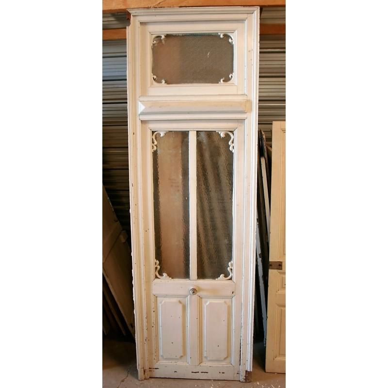 Porte vitr e avec imposte labrouche antiquaire de mat riaux for Porte french to english