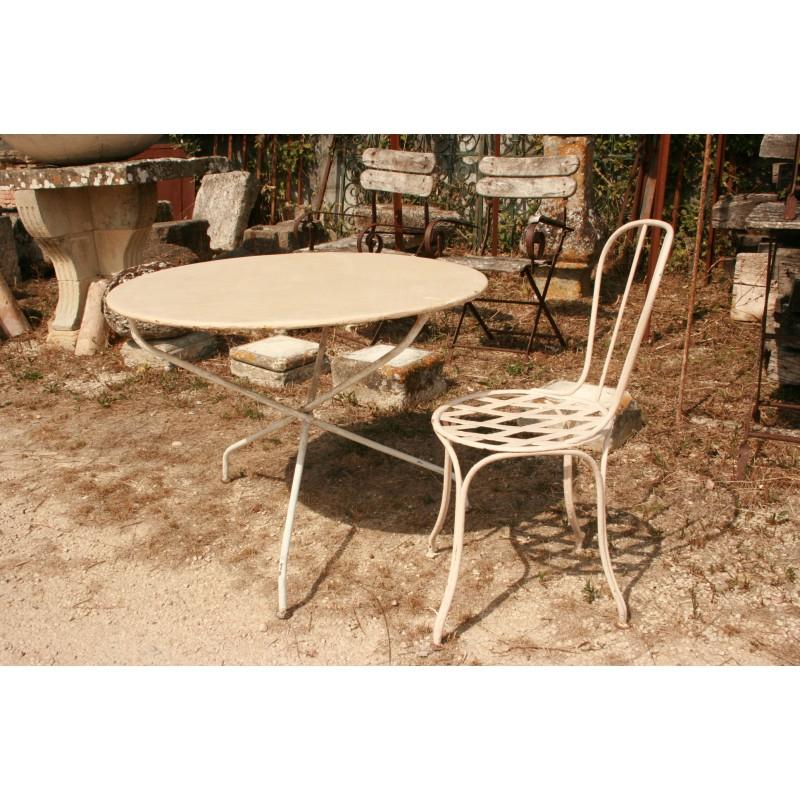 Table Ronde Chaise En Fer Labrouche Antiquaire De Matériaux