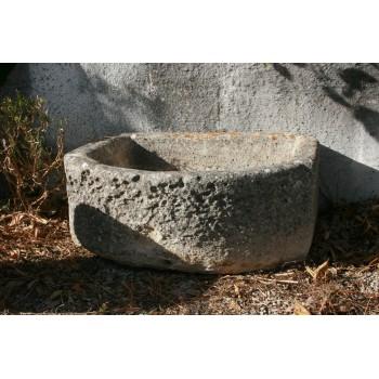 Bac demie lune en ciment