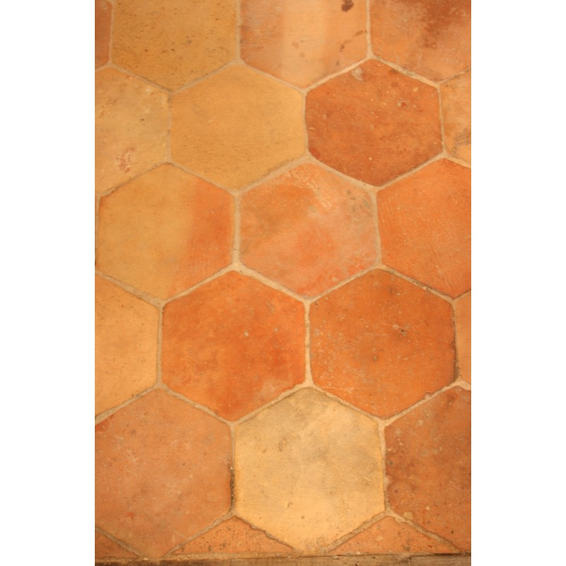 Carrelage hexagonal 16 x 16 labrouche antiquaire de for Carrelage style campagnard